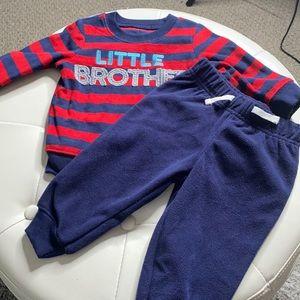 NWOT Little Brother Fleece Set 6-9